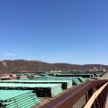 Yep, we'll be seeing plenty of this today. View from the top of a railroad overpass.