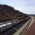 The GAP necessarily goes along a tremendous amount of rail. I passed hundreds of coal and tanker cars on my ride.