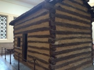 Inside the memorial is this cabin, at one time thought to be Abraham Lincoln's birthplace. In reality, it takes from the 1840s.