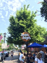 A Charlottesville institution, Bodo's offers great bagels and bagel sandwiches. I had two egg sandwiches and took two bagels to go. Great fuel.