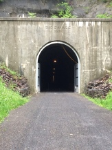 Big Savage Tunnel where we spent 3,294' within a mountain.