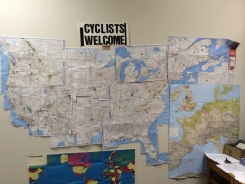 This map tracks how many cyclists Sebree hosts each year.