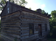 Replica of the cabin Thomas Lincoln was raised in following his father's death. The site is a short distance away. The cabin contains original Thomas Lincoln furniture.