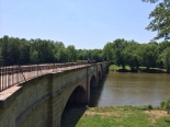 The aqueduct employs seven arches to cross the Monocacy river.