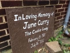 June Curry a/k/a the Cookie Lady was a trail angel for many years, offering food, water, shelter and conversation to those exhausted climbing Afton mountain.