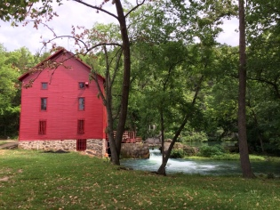 The mill, built in 1894, use the spring to grind corn and wheat. It's undergoing renovation to bring it into its second century.