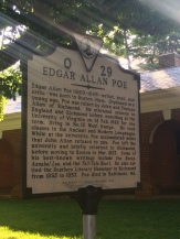 Edgar Allan Poe spent one semester in Charlottesville. His room is preserved behind glass nearby, but my photos didn't turn out.