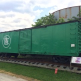 """Pittsburgh and Lake Erie Railroad car. The P&LE was known as the """"Little Giant"""" because it made boku bucks transporting literal tons of goods short distances."""