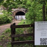 Pinkerton Tunnel's currently closed. Somerset Rails-to-Trail's is working on opening it, with aggressive matching funds. The detour's much longer than the tunnel's 849'.