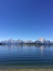 Tetons from Jackson Lake.