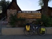 Home tonight's the church. I'm sharing with 29 members of Bike and Build.
