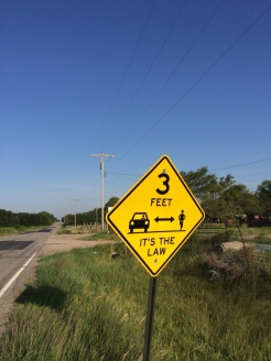 It's the law. Great to see these signs in the middle of nowhere (outside Hesston).