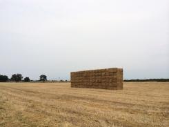 Hay wall.