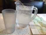 The waiter brought over a whole pitcher of water without even asking.