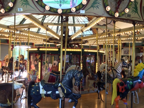 Really cool handcarved carousel. And, man, does it spin!