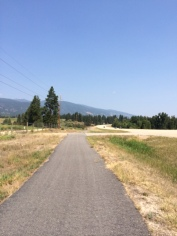 There's a nice, wide (if not particularly scenic) path along Highway 12 between Lolo and Hamilton.